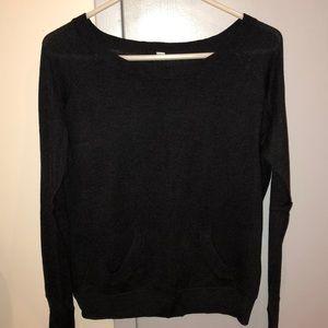 Lululemon light sweater charcoal gray sz 6